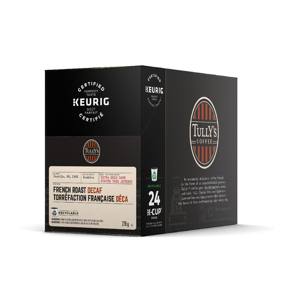 Load image into Gallery viewer, TULLY'S K CUP French Roast Decaf 24 CT