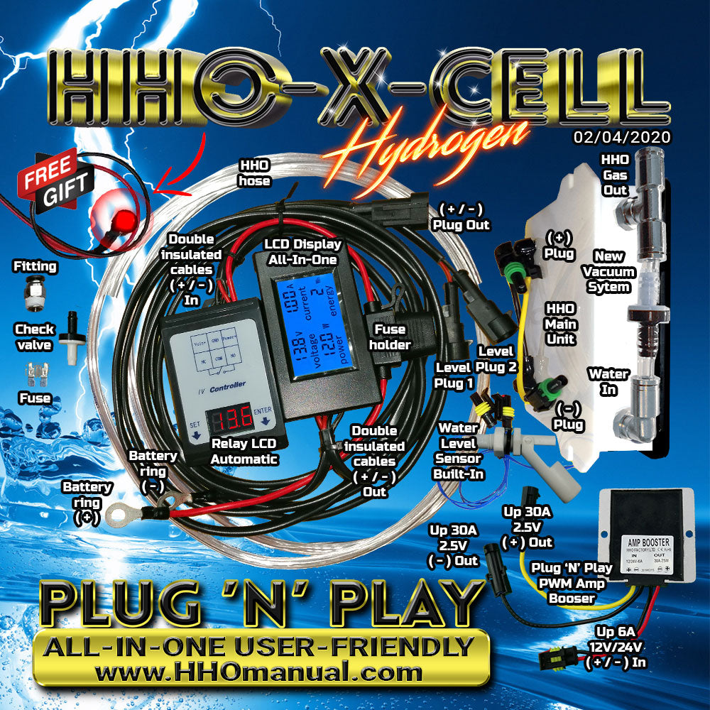 Full HHO Kit X-Cell Plug 'N' Play All-In-One