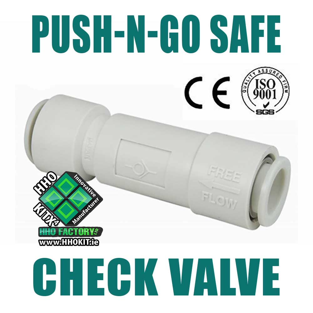 Non-return check-valve OD 8mm ID 5mm Push for pipe hose - HHO Factory, Ltd