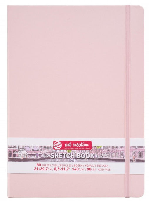 Talens Art Creation Sketch Book Pastel Pink, 140g, 80 sheets