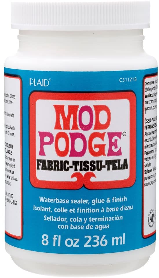 Mod Podge 8 oz Fabric Tissu Tela.
