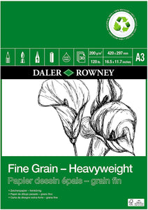 DALER ROWNEY A3 FINE GRAIN ECO HEAVYWEIGHT PAD 200 GSM 30 SHEETS