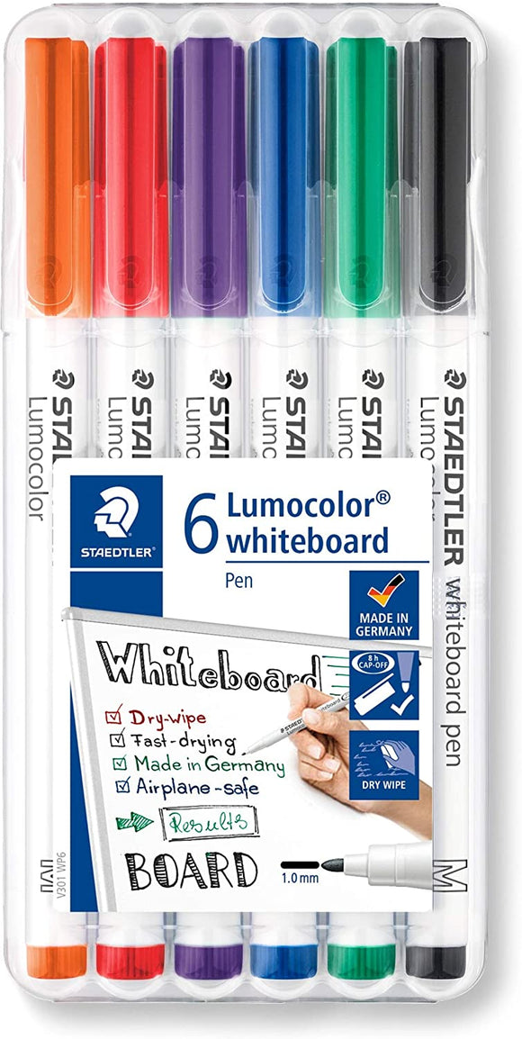 Whiteboard Lumocolor markers - Staedtler - 6 colors (Medium)