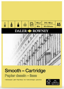 DALER ROWNEY A5 CARTRIDGE PAD 130GSM 30 SHEETS