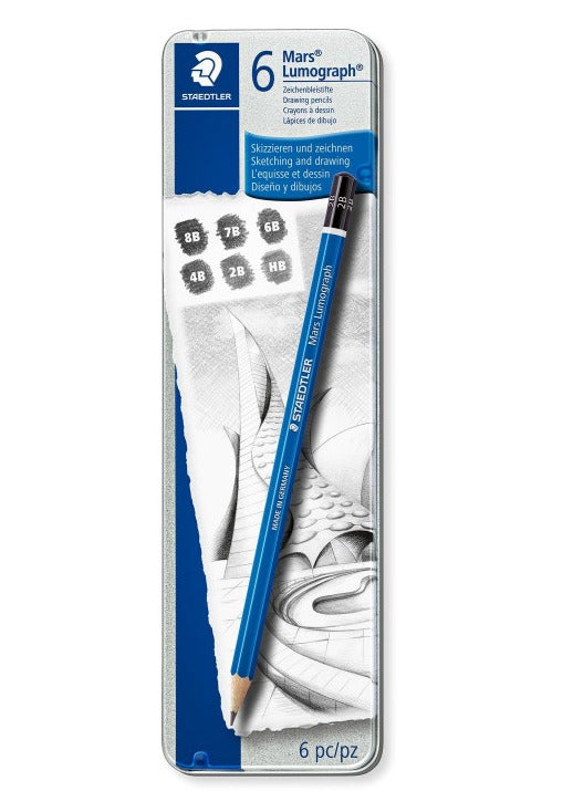 Lumograph graphite pencils - Staedtler - 6 pcs.