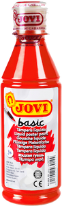Jovi Basic Liquid Poster Paint Bottle 250ml - Red