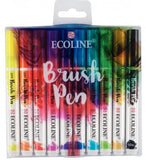 Brush Pen watercolor set Ecoline - Talens - 10 colors