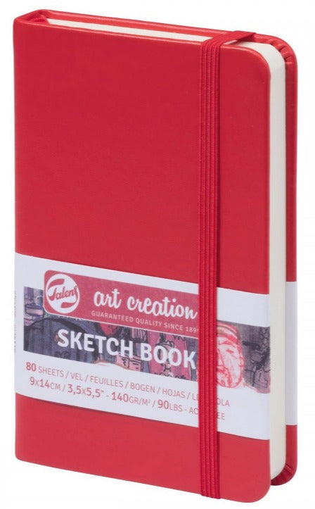Talens Art Creation Sketch Book Red, 140g, 80 sheets 9x14cm