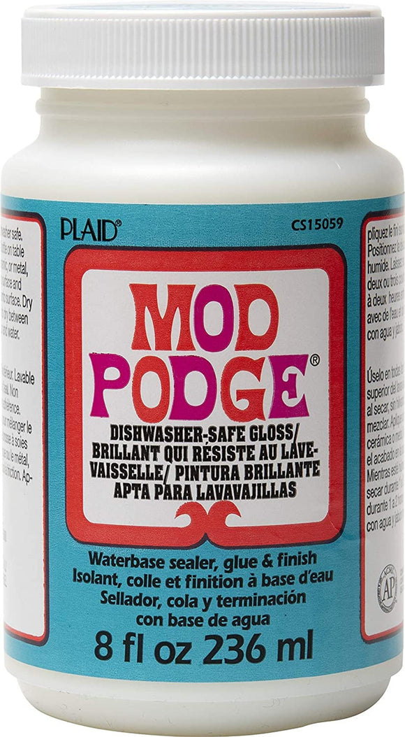 Mod Podge 8 fl oz Dishwasher Safe Gloss.