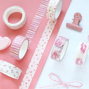 Cute Cheery Washi Tape Kawaii Pink Masking Tape Decorative Adhesive Tape For Kids DIY Decorative Scrapbooking  Photos Albums