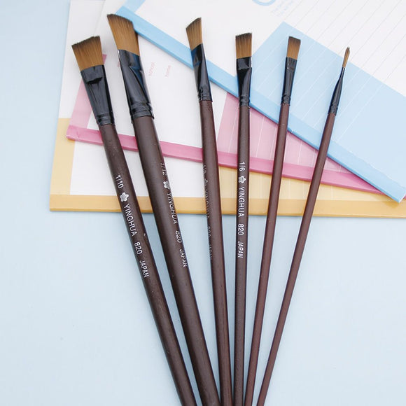 6Pcs/Set Nylon Acrylic Oil Paint Brushes For Art Artist Supplies Watercolor School Office Supply