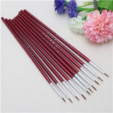 10 Pcs/Set Fine Hand Painted Thin Hook Line Pen Art Supplies Drawing Art Pen Paint Brush Nylon Brush Acrylic Painting Pen