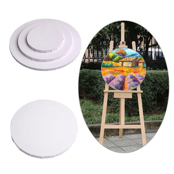 20/30/40cm White Blank Panels Round Canvas Board Wooden Frame Art Artist Painting Crafts Art Supplies C26