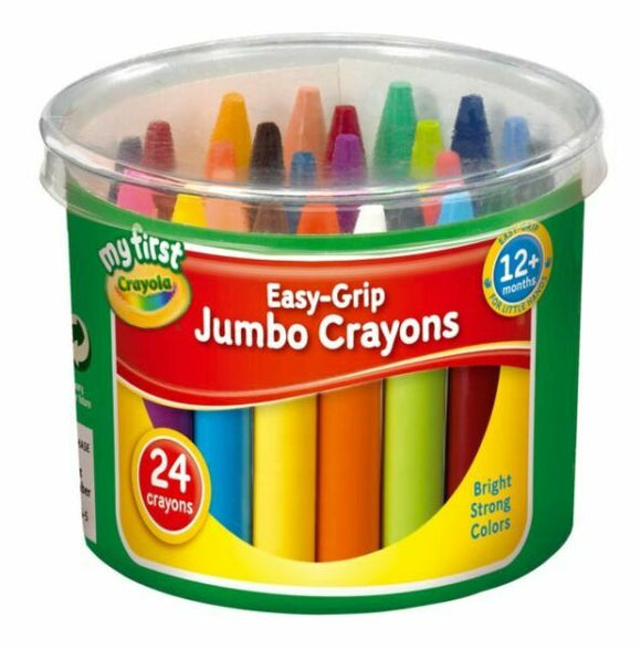 Crayola My First Easy-Grip Jumbo Crayons Pack of 24
