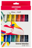 Set of acrylic paints in tubes Amsterdam 12 colors x 20 ml
