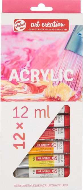 ART CREATION ACRYLIC COLOUR SET 12X12ML