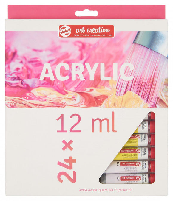 ART CREATION ACRYLIC COLOUR SET 24X12ML