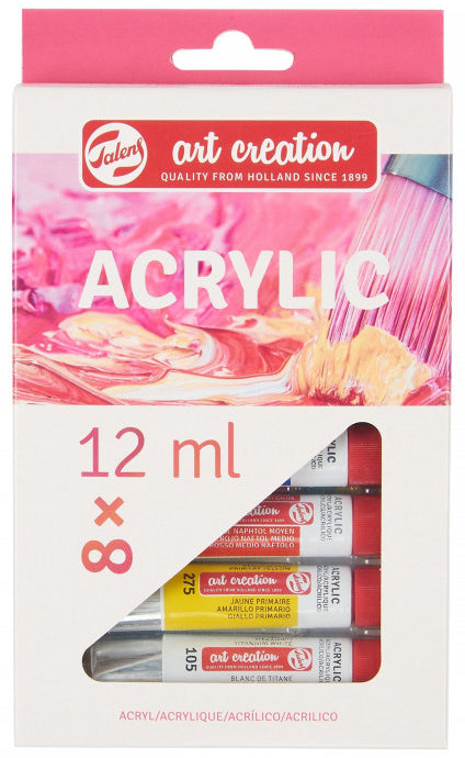 ART CREATION ACRYLIC COLOUR SET 8X12ML