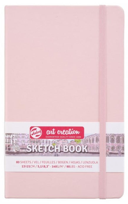 Talens Art Creation Sketch Book Pastel pink, 140g, 80 sheets 13x21cm