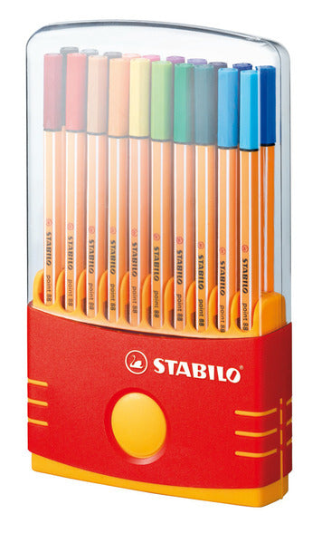 STABILO point 88 fineliner - colorparade deskset of 20 colours