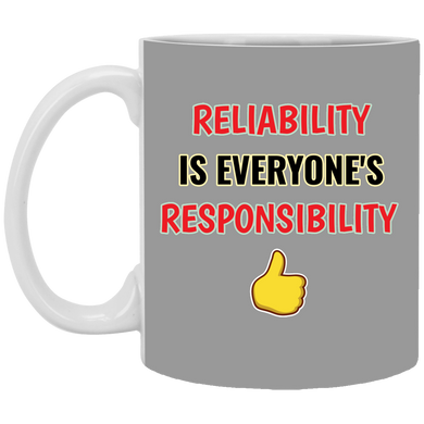 (Code RSA-143) Reliability and Maintenance 11 oz. White Mug - 6