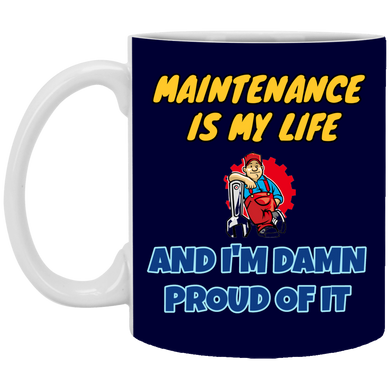 (Code RSA-144) Reliability and Maintenance 11 oz. White Mug - 7