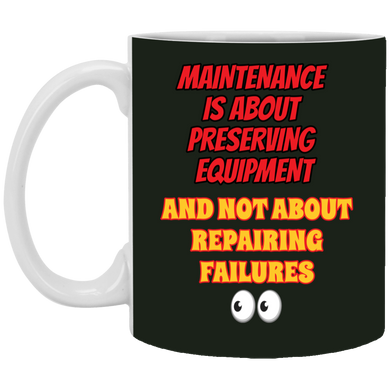 (Code RSA-149) Reliability and Maintenance 11 oz. White Mug - 12