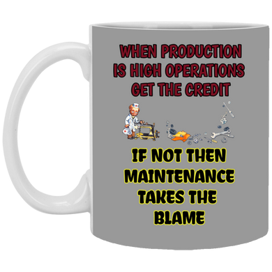 (Code RSA-148) Reliability and Maintenance 11 oz. White Mug - 11