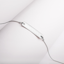 Load image into Gallery viewer, (Code RSA024) Reliability and Maintenance Engraved Silver Bar Chain Necklace