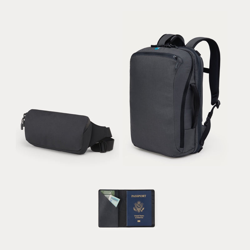 Minaal Weekender Bundle - Daily bag, Crossbody bag and Travel Wallet