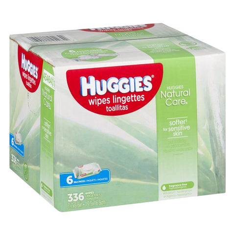 Huggies Wipes, Natural Care, 6x56ct