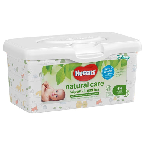 Huggies Wipes Tub, Nature Care (Fragrance Free), 64ct