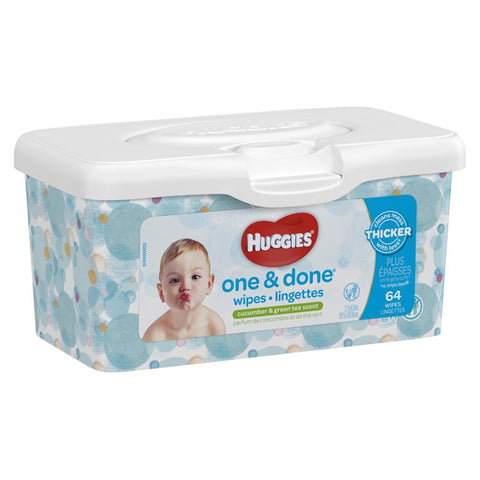 Huggies Wipes, One & Done Refreshing, 64ct
