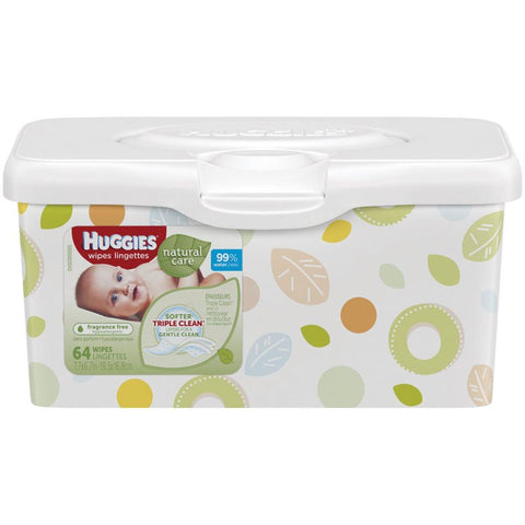 Huggies Wipes Tub, Simple (Fragrance Free), 64ct