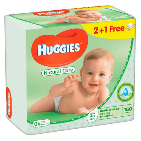 Huggies Natural Care Baby Wipes, 168ct