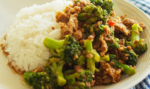 Vegan Ground Meat & Broccoli Stir-Fry