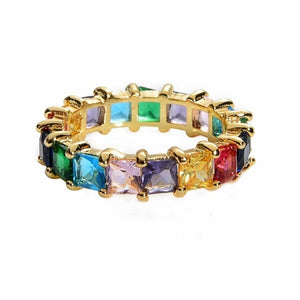 Crown rainbow Rings