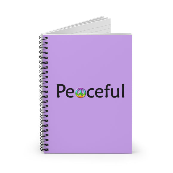 Peaceful Spiral Notebook - Ruled Line