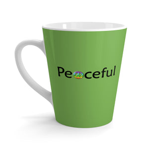 """Peaceful"" Latte mug - Green"