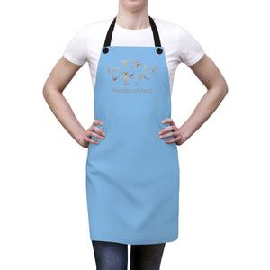 Friends not Food Apron - Light Blue