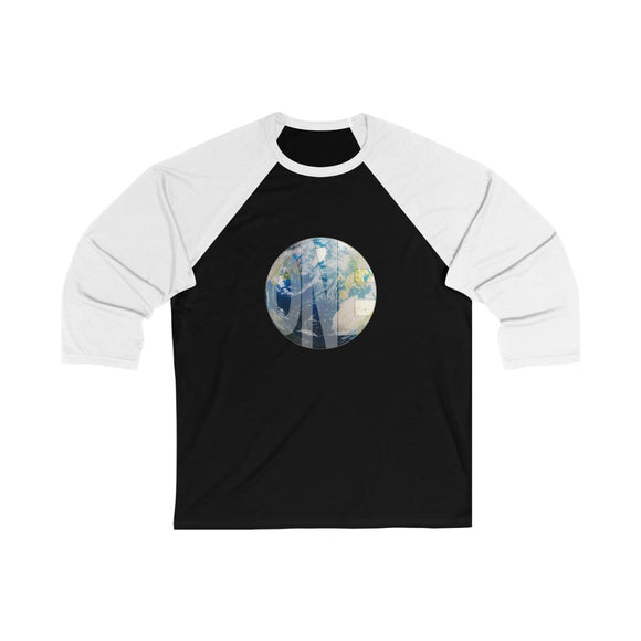 Earthling Collection - Unisex 3/4 Sleeve Baseball Tee - Black