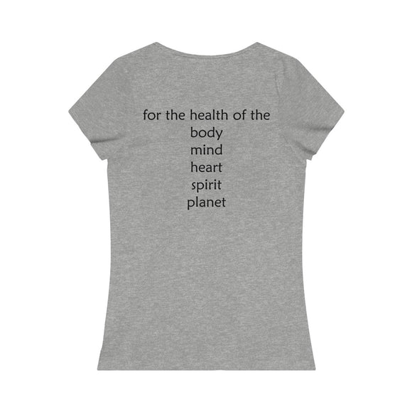 Eat Simply Live Joyfully Women's Organic Tee 2-sided print