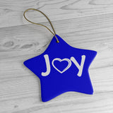 Joy Ceramic Ornaments - Blue - e-Gift  (including pre-paid shipping)