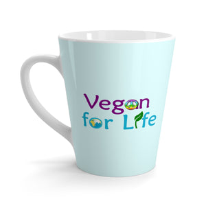 Vegan for Life Latte mug - Light Blue