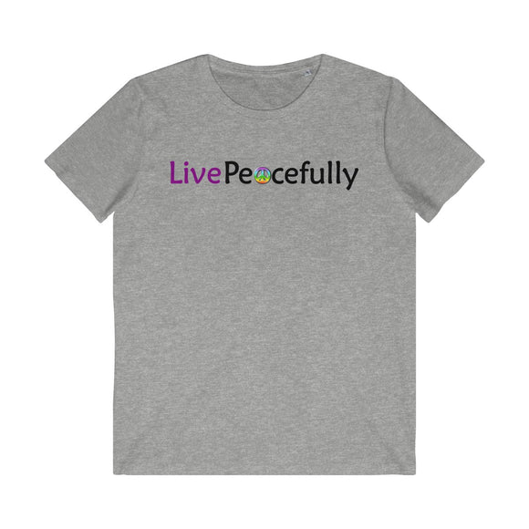 Live Peacefully Men's Organic Tee