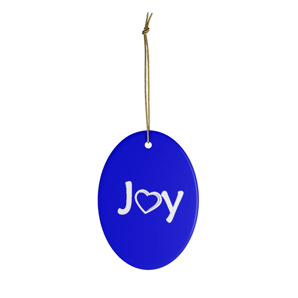 Joy Ceramic Ornaments - Blue