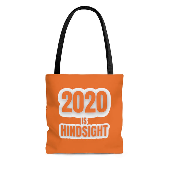 2020 is Hindsight Tote Bag - Orange