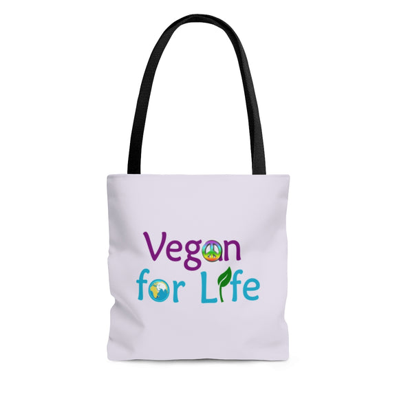 Vegan for Life Tote Bag - Light Purple