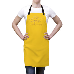 Friends not Food Apron - Yellow