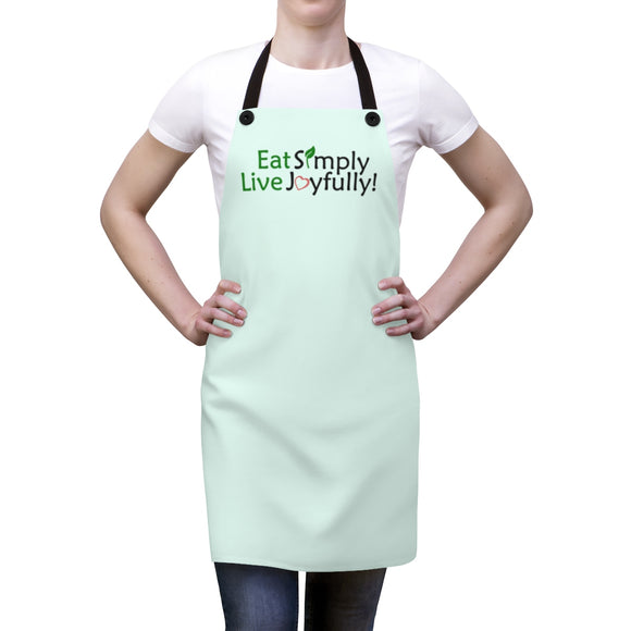 Eat Simply, Live Joyfully Apron - Mint Green